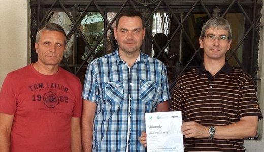 JEZT - Ralf Seidler Swen Knabe und Jürgen Henning vom KSJ holten den Sieg in der Kategorie ÄmterVerwaltung - Foto © Kommunalservcice Jena privat