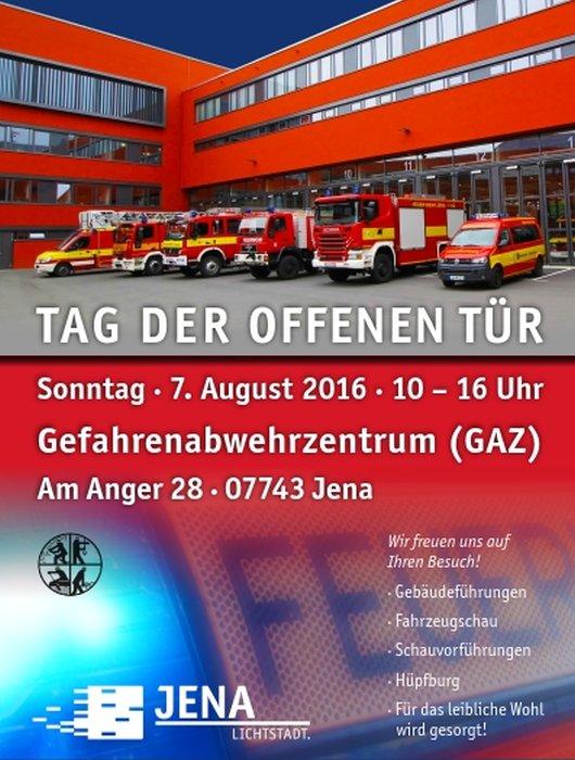 JEZT - Plakat für den Tag der offenen Tür im GAZ Jena - Abbildung © MediaPool Jena