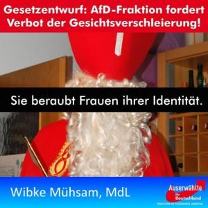 JEZT - Wibke Mühsam Gesichtsverschleierung - Symbolfoto © MediaPool Jena