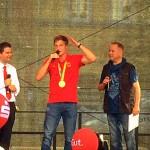 Empfang für Speerwurf-Olympiasieger Thomas Röhler auf dem Marktplatz - Foto © MediaPool Jena