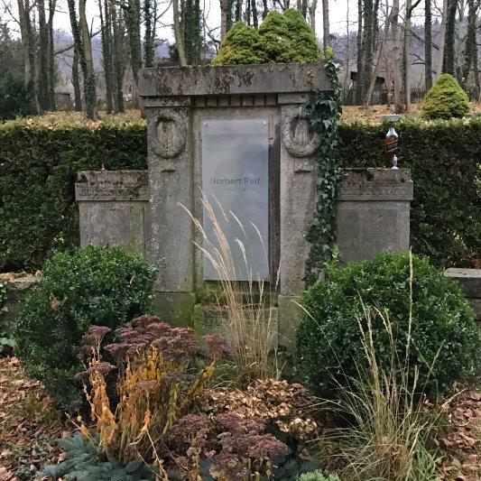 Das Grab von Norbert Reif am 1. Dezember 2016 - Foto © Kristian Philler