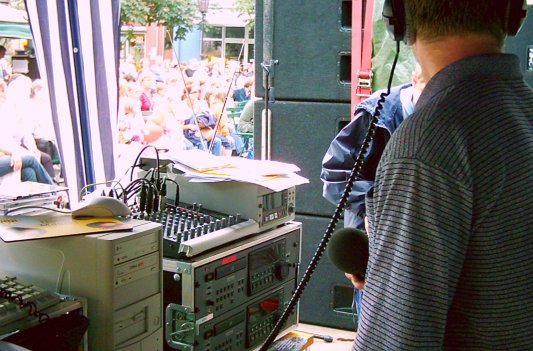 Bürgerradioliveübertragung - Symbolfoto © MediaPool Jena 2003