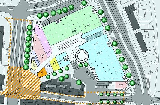 So könnte der Inselplatz Campus in Jena einmal aussehen. - Bebauungsstudie © Stadt Jena Dezernat Stadtentwicklung