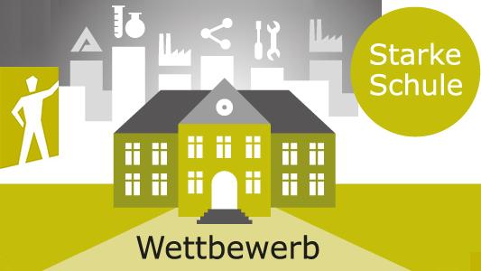 Wettbewerb Starke Schule - Symbolgrafik © Gemeinnützige Hertie-Stiftung