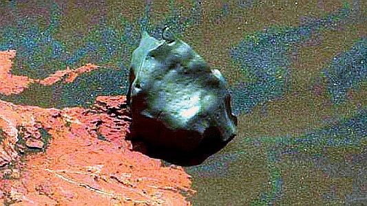 Eisenmeterorid der im Januar 2017 auf dem Mars entdekct wurde - Foto © HASA JPL Caltech