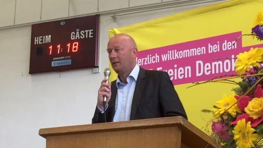 Thomas L. Kemmerich auf dem LPT und der LVV 2017 in Schmalkalden - Bildrechte FDP Thüringen