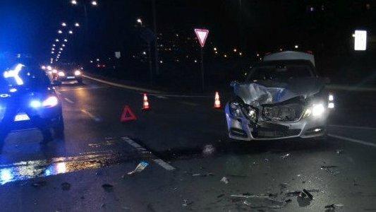 Verkehrsunfall auf der Stadtrodaer Straße im Februar 2017 - Bildquelle LPI Jena