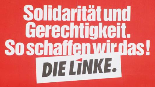 Solidarität Plakat - Die Linke.