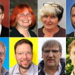 Die acht Jenaer OB-Kandidaten 2018 Schröter, Jänchen,Flämmich-Winkler, Koppe, Janokowski Nitzsche Petrich Peisker - Die Bildredhte liegen bei den einzelnen Parteien
