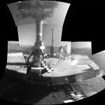 Opportunity Selfie, aufgenommen mit der Microscopic Imager Kamera am Robotic Arm - Image © NASA_JPL-Caltech_Cornell_Arizona State Univ._Texas