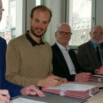Bürgermeister Schenker mit den Werkleitern der Stadt Jena. - Foto © Stadt Jena Kristian Philler