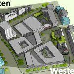 Der neue Inselplatz in 3D-Sicht (aus dem Verschattungsgutachten) - Abbildung © Stadt Jena