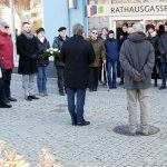 Stilles Gedenken in der Rathausgasse.. - Foto © Stadt Jena Kristian Philler