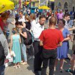 Riesenandrang am Wahlkampfstand - Bildrechte: FDP
