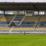 Tribüne im Ernst-Abbe-Sportfeld - Bildrechte: FF USV Jena Scheere