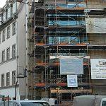 Das Haus Fürstengraben 25 während des Umbaus. - Foto © FSU