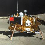 Aufnahme von Chang'e 4, aufgenommen mit der Panorama-Kamera von Yùtù 2. - Bildrechte China National Space Administration