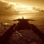 Dieses Foto schoss Mars Rover Opportunity am 26, Juli 2004 am Endurance Krater.. - Foto © NASA JPL-Caltech