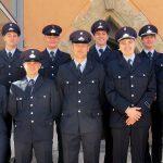 Die Anwärter der Feuerwehrausbildung mit Antonia Erdmann von der Personalentwicklung der Stadt Jena (im Bild links). - Foto © Stadt Jena