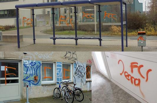 Unzählige Fcc Graffiti In Lobeda West Gesuchte Ladendiebinnen