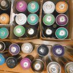 Aufgefundene Spraydosen - Bildquelle: LPI Jena