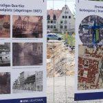 Parallel zu den Ausgrabungsarbeiten am Inselplatz gibt es nun Infotafeln zur Stadthistorie
