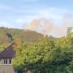 Großer Waldbrand an der Lodeburg dank Wasser aus dem Schleichersee weitgehend gelöscht