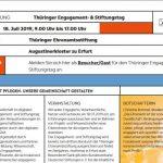 Heute ist der Thüringer Engagement- und Stiftungstag