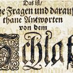 """""""Das Schlafen mit offenem Munde ist meistens der Fresser und Säufer Art"""": Detaillierte Beschreibung der Schlafapnoe in einer 1688 in Jena veröffentlichten Schrift"""
